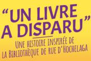 Lancement du roman jeunesse «Un livre a disparu !» de Marie Christine Hendrickx